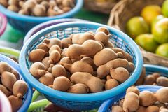 Tamarind in a fruit stand Stock Photo