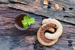 Delicious sweet drink tamarind royalty free stock photo