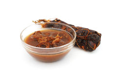 Tamarind juice and sour tamarind Royalty Free Stock Photography