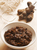 Tamarind paste. Close up of a bowl of tamarind paste Royalty Free Stock Photo