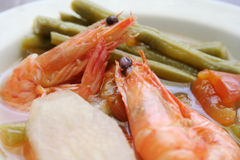 Tamarind Soup with Shrimp Stock Photos