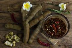 Tamarind with Sweet fish sauce Royalty Free Stock Image