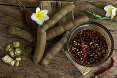 Tamarind with Sweet fish sauce Stock Photos