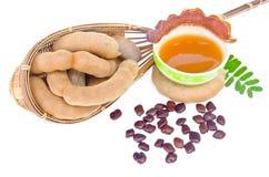 Tamarind and tamarind juice Stock Image