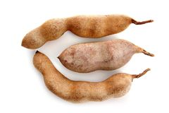 Tamarind Tamarindus indica Legumes isolated Royalty Free Stock Images