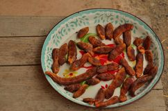 Tamarind on the tray. Royalty Free Stock Images