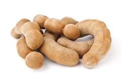 Tamarind on a white. Stock Photos