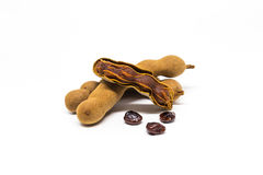 Tamarind on white background Stock Photography