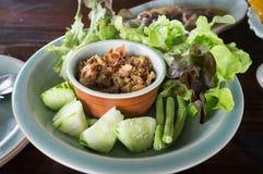 Tamarindfruktdeg med nya grönsaker Royaltyfri Fotografi