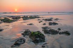 Tamarindo beach. Playa Hermosa during sunset Stock Photos