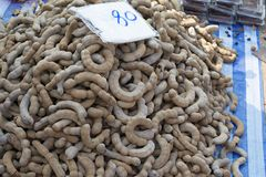 Tamarindo dulce en el mercado para la venta en Tailandia Imagen de archivo libre de regalías