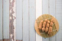 Tamarinier sur la table en bois Photos libres de droits