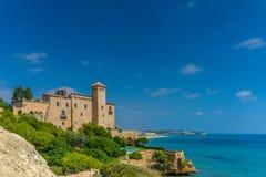 Tamarit Castle Costa Daurada Spain. Romanesque castle of Tamarit in Tarragona, Catalonia Stock Photography