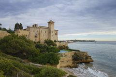 Tamarit castle in Tarragona, Spain Stock Photos