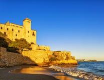 Tamarit castle overlooking the Mediterranean, Tarragona, Spain Royalty Free Stock Image