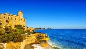Tamarit castle at sunset, Tarragona, Spain Royalty Free Stock Photos
