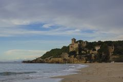 Tamarit castle in Tarragona, Spain Royalty Free Stock Photos