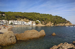 Tamariu beach, Palafrugell,Costa Brava, Girona, Catalonia,Spain Royalty Free Stock Photos