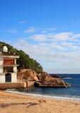 Tamariu Strand (Costa Brava, Spanien) Stockbild
