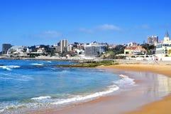Tamariz海滩在爱都酒店,葡萄牙 免版税库存照片