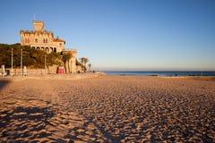 Tamariz Beach at Sunset in Estoril Stock Photos