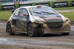 Tamas好朋友亲吻 巴塞罗那FIA世界Rallycross 免版税图库摄影