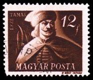 Tamas Esze 1666-1708, Węgierski wolność wojowników seria około 1947, zdjęcia stock