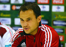 Tamas Hajnal of Hungary during press conference Stock Photo