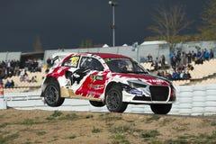 Tamas Karai 巴塞罗那FIA世界Rallycross冠军 库存图片