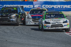 Tamas kumpel buziak Barcelona FIA świat Rallycross Obrazy Royalty Free