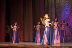 ?Tamazur? com dança oriental Fotografia de Stock