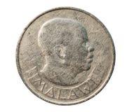 20 Tambala Münze, Zirkulation (Kwacha) Bank von Malawi Heben Sie auf, stockfotos