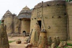tamberma在多哥-联合国科教文组织世界遗产的议院 库存图片