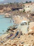 También playas de hoteles vecinos en Egipt Sharm-e Imagen de archivo libre de regalías