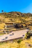 Tambomachay - αρχαιολογική περιοχή στο Περού, κοντά σε Cuzco. Αφιερωμένος στη λατρεία του νερού στοκ φωτογραφία