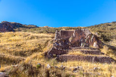 Tambomachay -archaeological site in Peru, near Cuzco. Stock Image