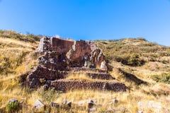 Tambomachay - archeologiczny miejsce w Peru, blisko Cuzco. Poświęcać kult woda Fotografia Royalty Free