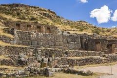 Tambomachay fördärvar Cuzco Peru Arkivfoton