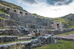 Tambomachay Inca Ruins with water spring - Cusco, Peru Royalty Free Stock Images