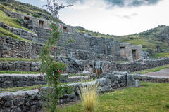 Tambomachay Inca Ruins with water spring - Cusco, Peru Stock Images