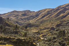 Tambomachay valley peruvian Andes Cuzco Peru Royalty Free Stock Photos