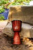 Tambor étnico africano del jumbo de los instrumentos musicales Fotos de archivo libres de regalías