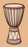 Tambor africano stock de ilustración