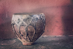 Tambor africano tradicional - vintage Fotografía de archivo libre de regalías