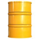 Tambor amarelo isolado no branco Fotos de Stock