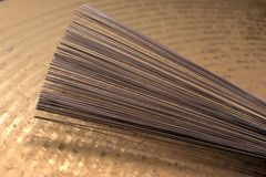 Tambor-aplique con brocha Foto de archivo libre de regalías