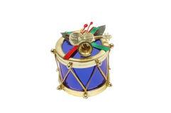Tambor azul de la Navidad Imagenes de archivo