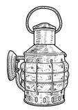 Tambor, caixa, ilustração do pacote, desenho, gravura, tinta, linha arte, ilustração da lanterna do vectorShip, desenho, gravura, ilustração stock