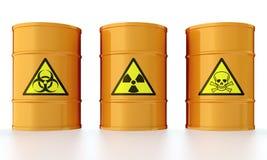 Tambor com desperdício tóxico ilustração do vetor