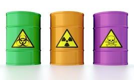 Tambor com desperdício tóxico ilustração stock